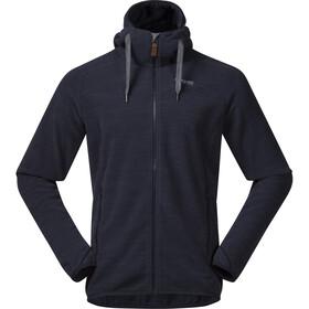 Bergans Hareid Fleece Jacket Herr dark navy melange
